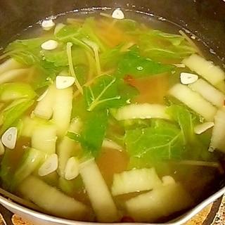 レンズ豆と白菜のプチッと鍋スープ