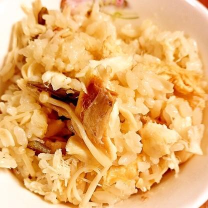 エノキと鯛の炊き込みご飯