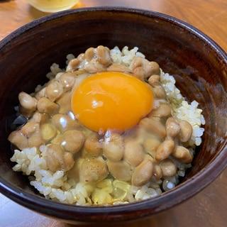 ごま油風味♡納豆卵かけご飯