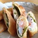フワっと☆モチっと☆ 豆腐と山芋の春巻き 塩麹入り
