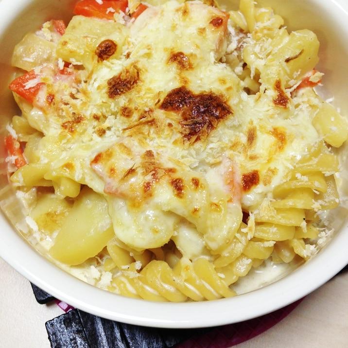 野菜とマカロニのグラタン風