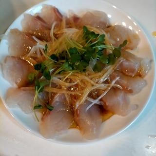 新玉ねぎと真鯛のカルパッチョ