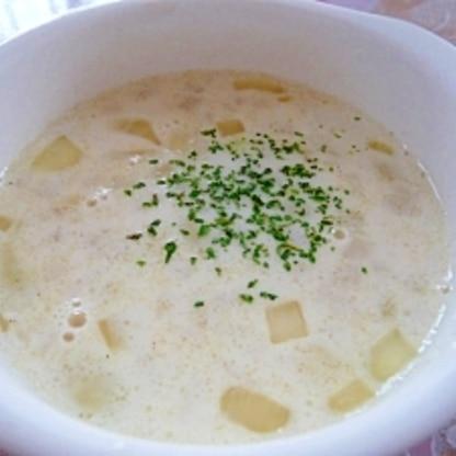 玉ねぎで★和風ミルクスープ