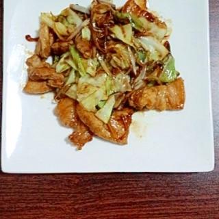 豚肉とキャベツのテンメンジャン炒め