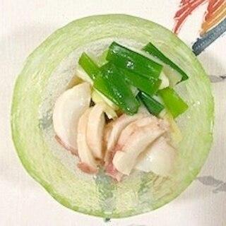 長葱とタコの酢味噌和え
