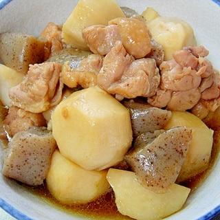 【お手伝いレシピ】里芋と鶏もも、こんにゃくの煮物