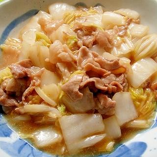 白菜と豚肉の和風炒め
