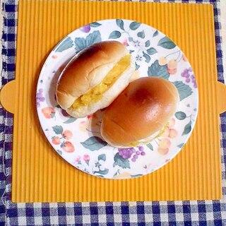 焼き芋チーズのバターロールサンド♪