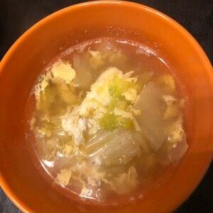白菜と卵のあっさり中華スープ