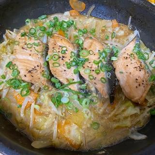 鮭の味噌マヨちゃんちゃん焼き風☆