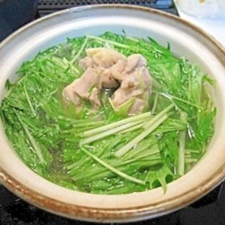 鶏肉でハリハリ鍋