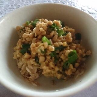 オートミール納豆ご飯