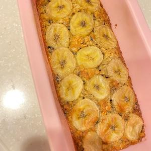 オートミールで紅茶バナナパウンドケーキ♪小麦粉なし