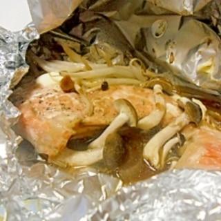 鮭のホイル焼き テンメンジャンマヨで