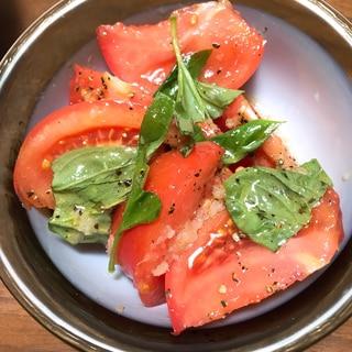 簡単!スイートバジルとトマトの和えるだけサラダ