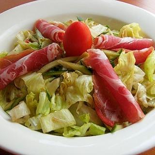 おしゃれ♪バルサミコで生野菜サラダ♪