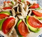 豚しゃぶとアボカドトマトサラダ
