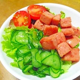 コロコロ スパムサラダ♪
