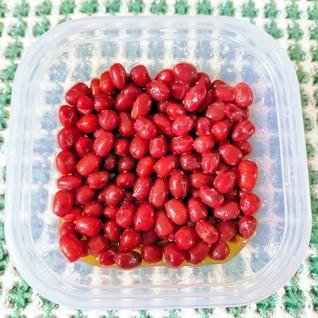 小豆のガーリックオリーブオイルマリネ