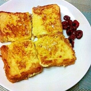冷凍食パン1枚をフレンチトースト