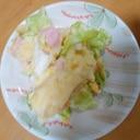 レタスでポテトサラダ