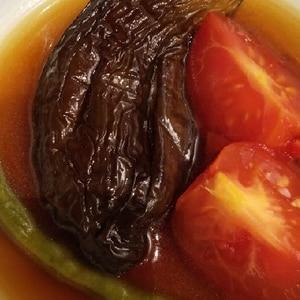 簡単おつまみ♪トマトとナスの揚げびたし