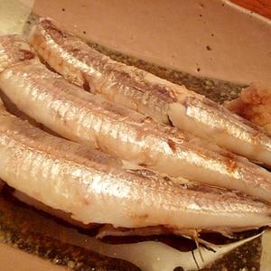 酢醤油でさっぱり☆ニギス(メギス)の塩茹で