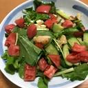 ホタテとルッコラのサラダ