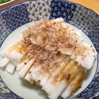 暑い日は、あっさり長芋の短冊。かつお節で旨味アップ