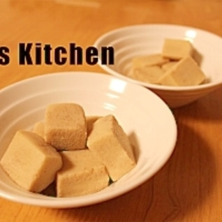 高野豆腐だけの含め煮
