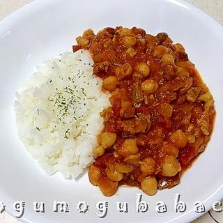 ひよこ豆のトマトカレー