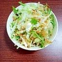 白菜・水菜とカッテージチーズの和風オニオンサラダ