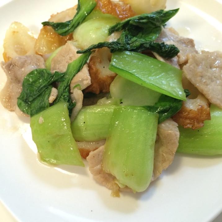 チンゲン菜と豚肉の中華炒め