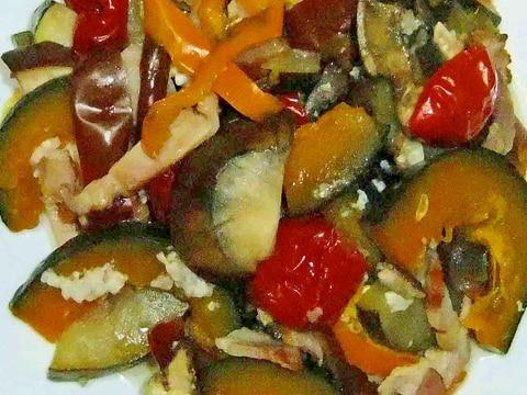 夏の野菜の塩麹蒸し