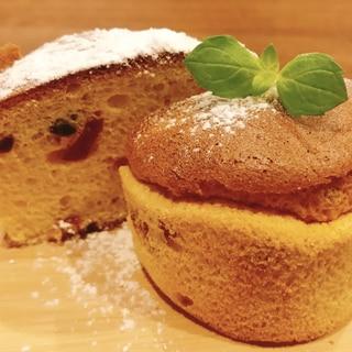 耐熱マフィン型で小麦粉不使用ふわふわシフォンケーキ