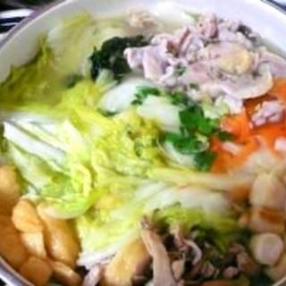カンタン美味!!白湯(パイタン)風塩鍋