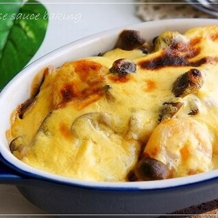 秋味☆さつまいもと海老のチーズソース焼き