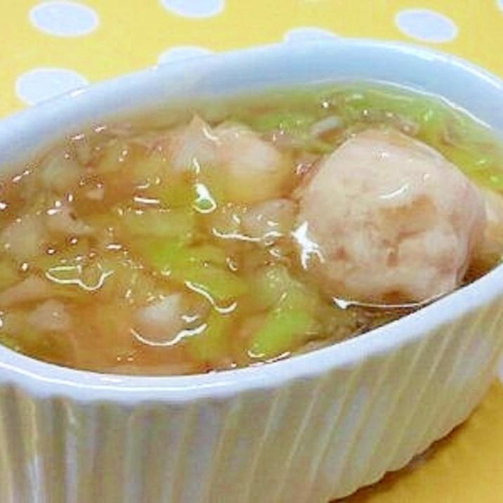 【離乳食】鶏団子&キャベツの中華風煮