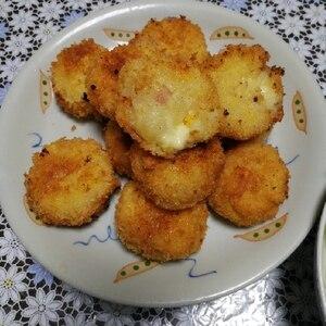 子どもも喜ぶ☆熱々ベーコン入りチーズコロッケ♪