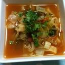 家庭菜園セロリを使った野菜たっぷり簡単スープ