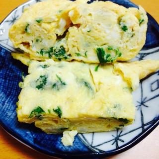 水菜たっぷり卵焼き