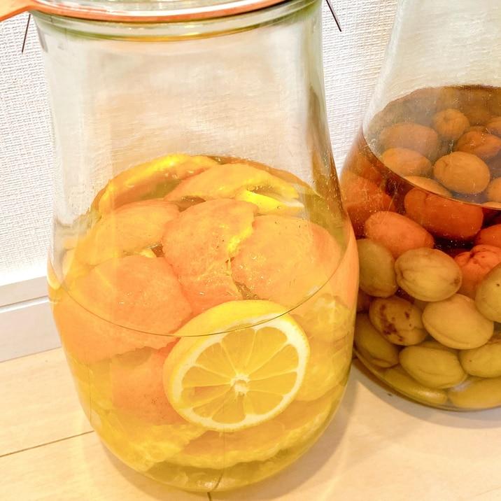 4月から漬けられる果実酒 夏みかん酒