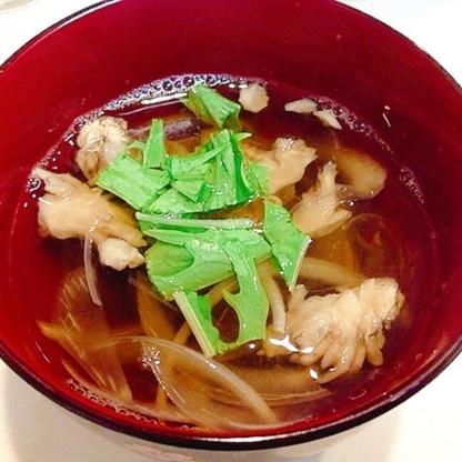 舞茸と玉ねぎの☆和風スープ