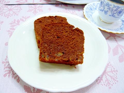 HMで簡単ゆずピール入りほろ苦大人味のチョコケーキ