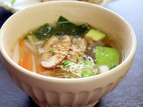 冷製味噌スープ【ローフード】
