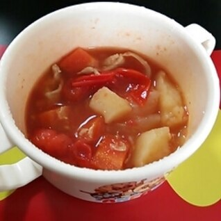 肉じゃがを使って!子供用即席スープ