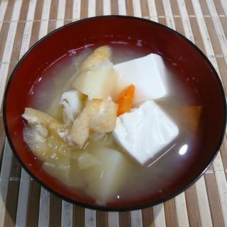 具沢山、豆腐味噌汁