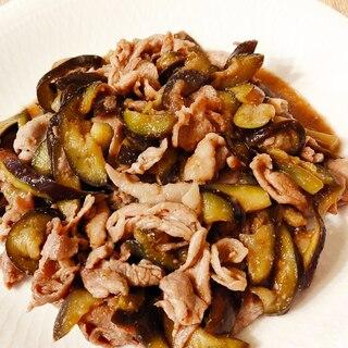 麺つゆで簡単☆なすと豚肉のごまたっぷり炒め