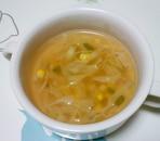 キャベツとコーンのスープ++