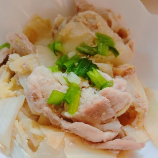 簡単!豚しゃぶ肉の白菜蒸し♡